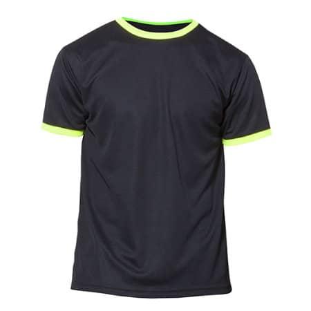 Action Kids - Short Sleeve Sport T-Shirt in Black Yellow Fluor von Nath (Artnum: NH160K