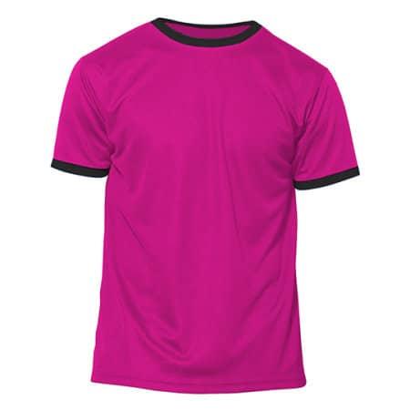 Action Kids - Short Sleeve Sport T-Shirt in Fuchsia Fluor|Black von Nath (Artnum: NH160K