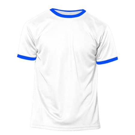 Action Kids - Short Sleeve Sport T-Shirt in White|Royal Fluor von Nath (Artnum: NH160K