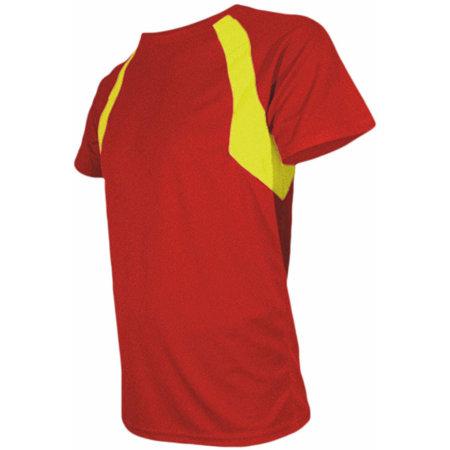 Men`s Combi Sport Shirt in Red|Yellow von Nath (Artnum: NH251