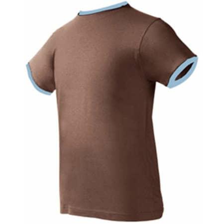 Boston T-Shirt in Chocolate|Sky von Nath (Artnum: NH351