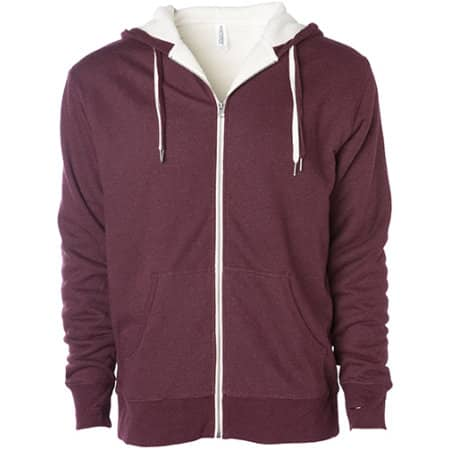 Unisex Sherpa Lined Zip Hooded Jacket von Independent (Artnum: NP352