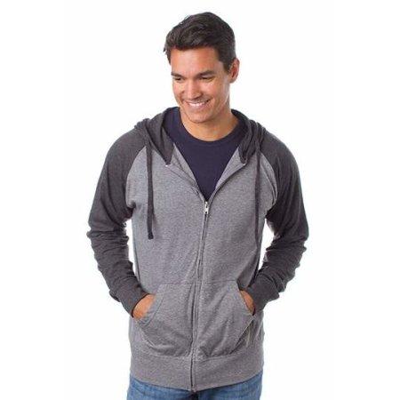Men`s Lightweight Jersey Raglan Zip Hood von Independent (Artnum: NP356
