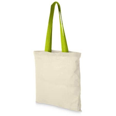 Cotton Bag - Nevada in Natural|Apple Green von Bullet (Artnum: NT110N