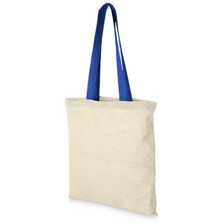 Cotton Bag - Nevada in Natural|Royal Blue von Bullet (Artnum: NT110N