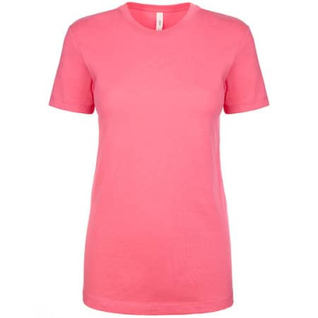 Ladies` Ideal T-Shirt in Hot Pink von Next Level Apparel (Artnum: NX1510