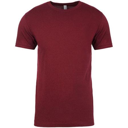 Men`s Crew Neck T-Shirt in Maroon von Next Level Apparel (Artnum: NX3600
