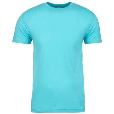 Men`s Crew Neck T-Shirt in Tahiti Blue von Next Level Apparel (Artnum: NX3600