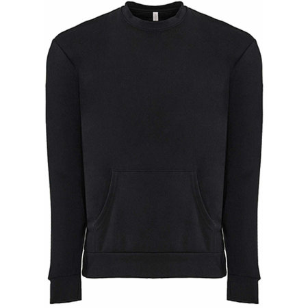Unisex Fleece Crew Neck with pocket in Black von Next Level Apparel (Artnum: NX9001