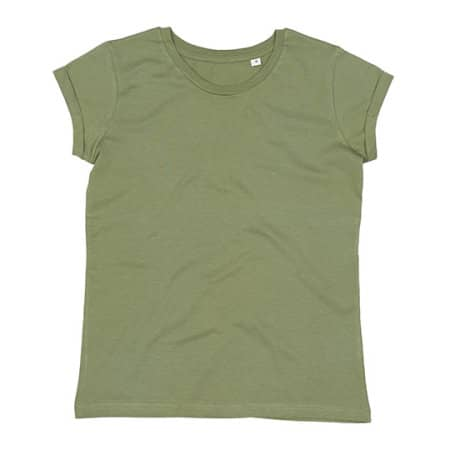 Women`s Roll Sleeve T in Soft Olive von Mantis (Artnum: P81