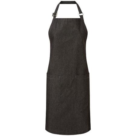 Organic Denim Fairtrade Bib Apron in Black Denim von Premier Workwear (Artnum: PW113