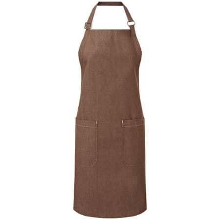 Organic Denim Fairtrade Bib Apron von Premier Workwear (Artnum: PW113