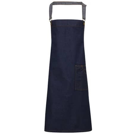 District Waxed Look Denim Bib Apron von Premier Workwear (Artnum: PW134