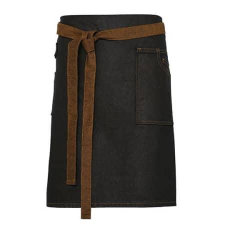 Division Waxed Look Denim Waist Apron in Black|Tan Denim von Premier Workwear (Artnum: PW135