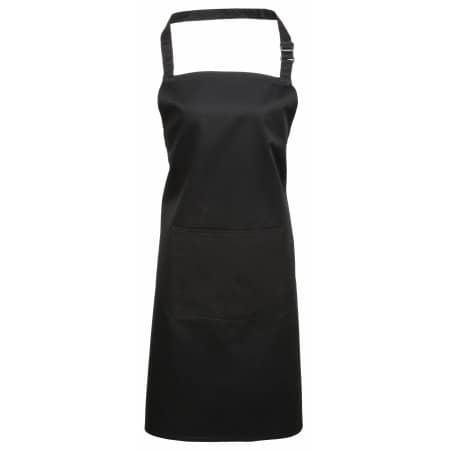 Colours Bib Apron With Pocket in Black von Premier Workwear (Artnum: PW154