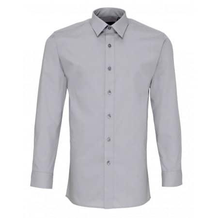 Men`s Long Sleeve Fitted Poplin Shirt von Premier Workwear (Artnum: PW204