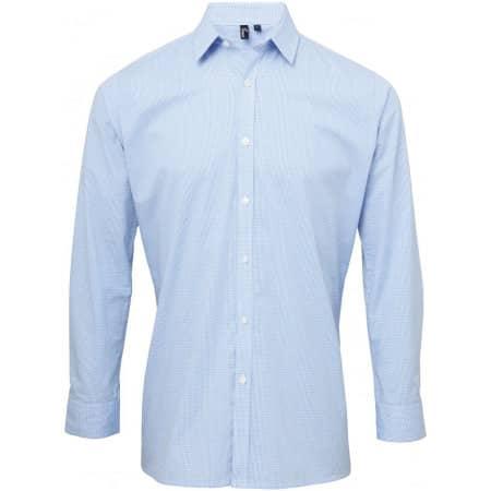 Men`s Microcheck (Gingham) Long Sleeve Shirt von Premier Workwear (Artnum: PW220
