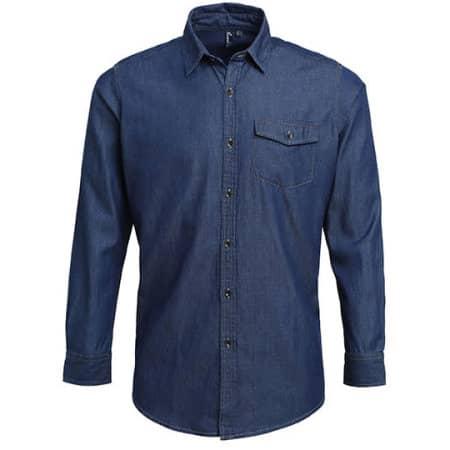 Men`s Jeans Stitch Denim Shirt von Premier Workwear (Artnum: PW222