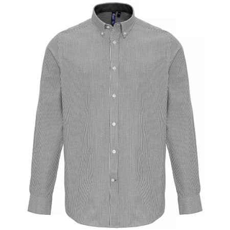 Mens Cotton Rich Oxford Stripes Shirt von Premier Workwear (Artnum: PW238