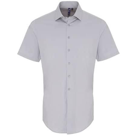 Mens Stretch Fit Cotton Poplin Short Sleeve Shirt von Premier Workwear (Artnum: PW246