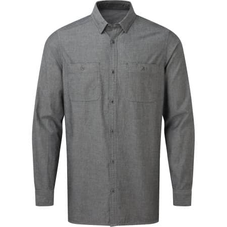 Men`s Organic Chambray Fairtrade Long Sleeve Shirt von Premier Workwear (Artnum: PW247