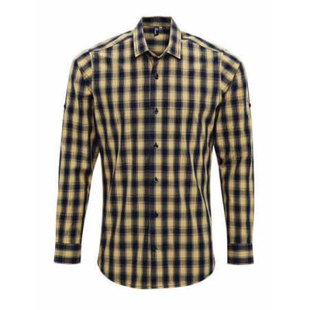 Men`s Mulligan Check Cotton Long Sleeve Shirt von Premier Workwear (Artnum: PW250