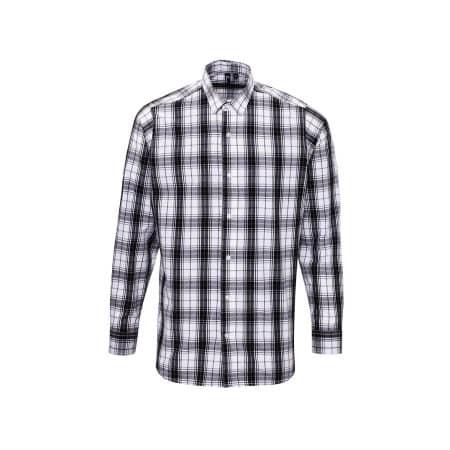 Ginmill Check Mens Long Sleeve Cotton Shirt von Premier Workwear (Artnum: PW254