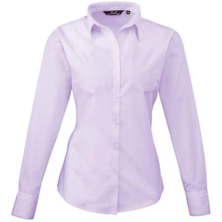 Ladies` Poplin Long Sleeve Blouse von Premier Workwear (Artnum: PW300