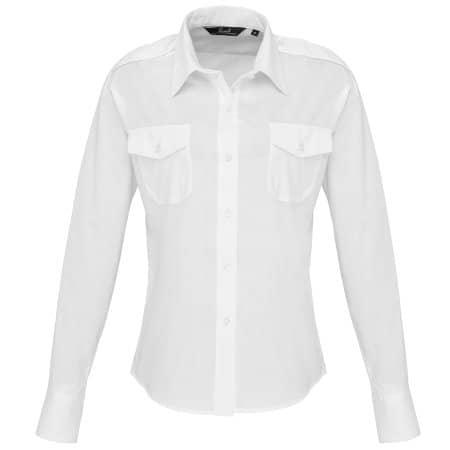 Ladies` Long Sleeve Pilot Shirt von Premier Workwear (Artnum: PW310