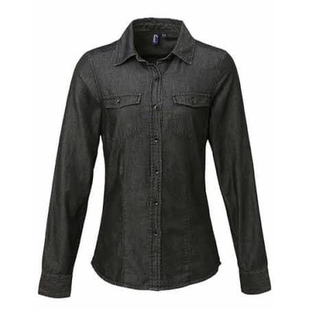 Ladies` Jeans Stitch Denim Shirt von Premier Workwear (Artnum: PW322