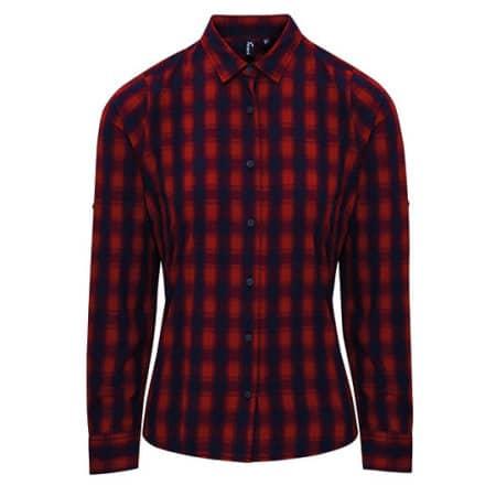 Ladies` Mulligan Check Cotton Long Sleeve Shirt von Premier Workwear (Artnum: PW350