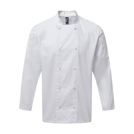 Chefs Long Sleeve Coolchecker® Jacket von Premier Workwear (Artnum: PW903