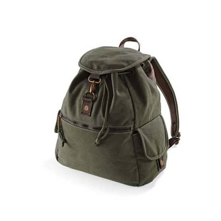 Vintage Canvas Backpack von Quadra (Artnum: QD612
