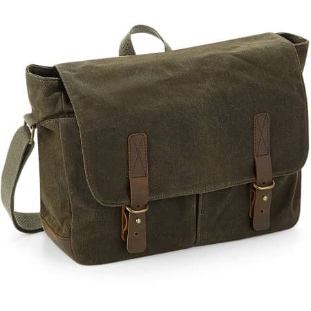 Heritage Waxed Canvas Messenger von Quadra (Artnum: QD653