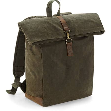 Heritage Waxed Canvas Backpack von Quadra (Artnum: QD655