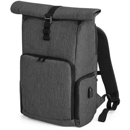 Q-Tech Charge Roll-Top Backpack von Quadra (Artnum: QD995