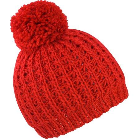 Knitted Flute Pom Pom Hat von Result Winter Essentials (Artnum: RC162
