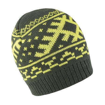 Nordic Knitted Hat in Dark Olive|Lime von Result Winter Essentials (Artnum: RC371