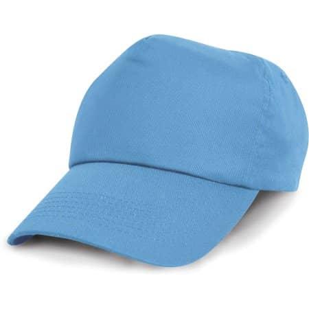 Junior Cotton Cap in Sky von Result Headwear (Artnum: RH05J