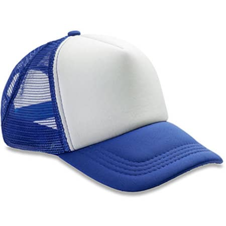 Detroit 1/2 Mesh Truckers Cap in Royal White von Result Headwear (Artnum: RH089