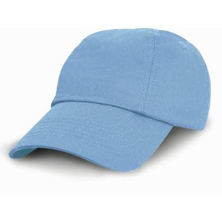 Junior Low Profile Cotton Cap in Sky von Result Headwear (Artnum: RH18J