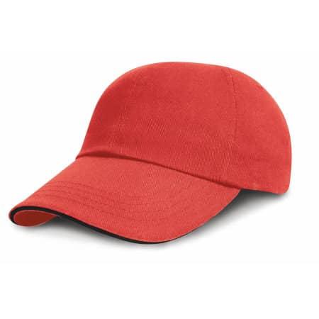 Junior Heavy Brushed Cotton Cap Low Profile von Result Headwear (Artnum: RH24PJ