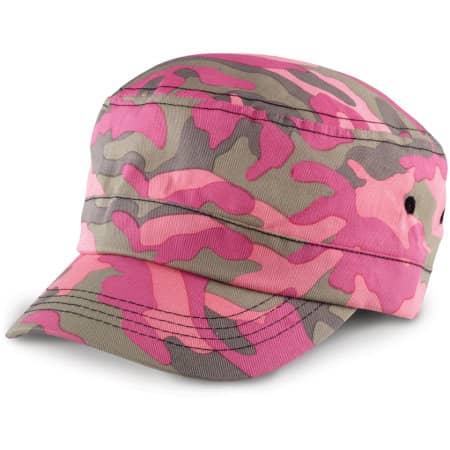 Urban Camo Cap in Pink Camo von Result Headwear (Artnum: RH59