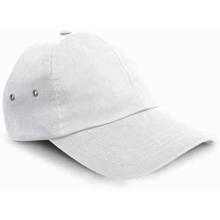 Plush Cap in White von Result Headwear (Artnum: RH63