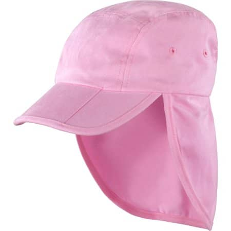 Fold Up Legionnaires Cap in Pink von Result Headwear (Artnum: RH76