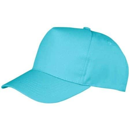 Boston 5-Panel Cap in Aqua von Result Headwear (Artnum: RH84