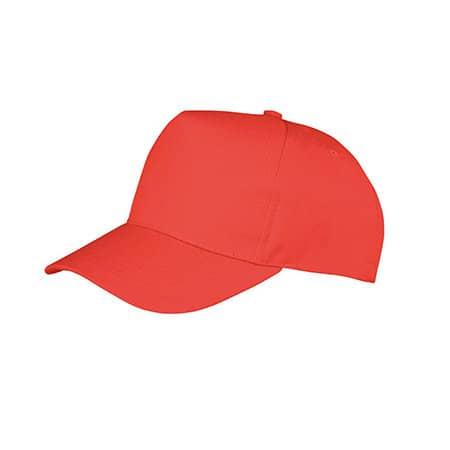 Junior Boston Printers Cap in Red von Result Headwear (Artnum: RH84J
