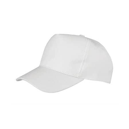Junior Boston Printers Cap in White von Result Headwear (Artnum: RH84J