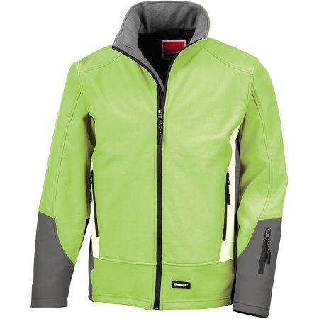 Blade Softshell Jacket in Lime|Charcoal|Pale Grey von Result (Artnum: RT119
