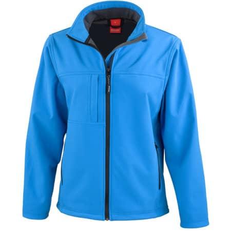 Ladies` Classic Soft Shell Jacket in Azure von Result (Artnum: RT121F